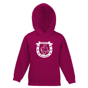 Horseshoe and Horse Motif Personalised Childs Hooded Top