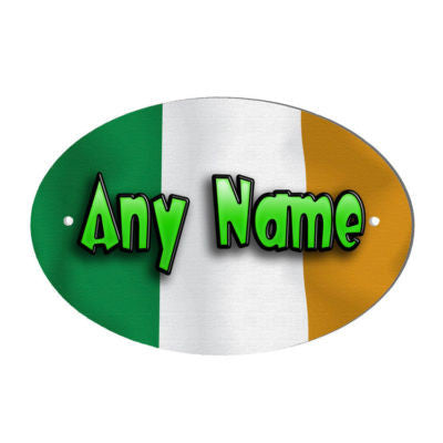 Irish Flag Design Personalised Door Name Plaque