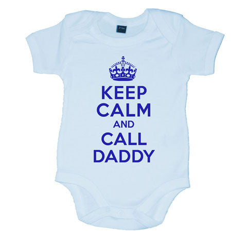 Keep Calm And Call Daddy Boys Baby Vest