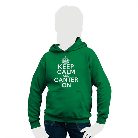 Keep Calm and Canter On Crown Motif Child's Hooded Top