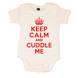 Keep Calm And Cuddle Me Baby Vest