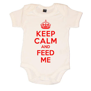 Keep Calm And Feed Me Baby Vest