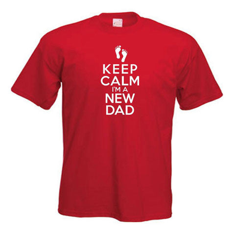 Keep Calm I'm A New Dad Motif T-Shirt For Dad