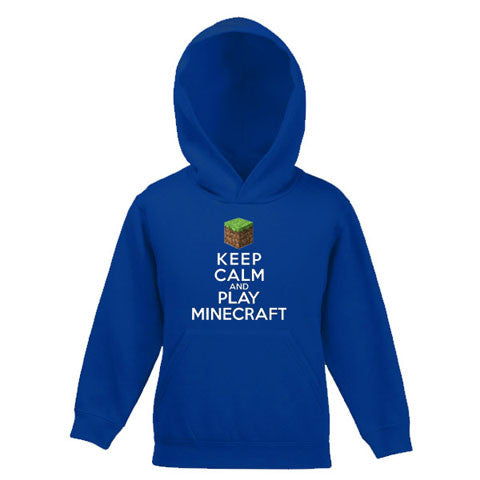 Keep Calm And Play Minecraft Child's Hooded Top