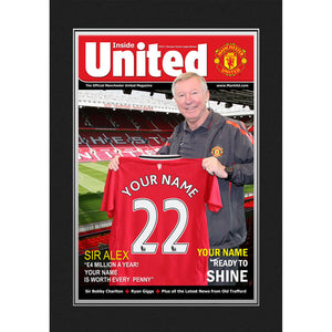 Man United Personalised Magazine Cover Folder