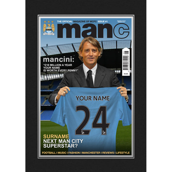 Manchester City Personalised Magazine Cover Folder