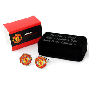 Manchester United FC Cufflinks with Personalised Box