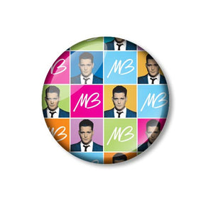 Michael Bublé Warhol Style 25mm Pin Backed Button Badge