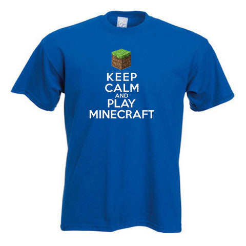 Minecraft Keep Calm and Play Minecraft Adults T-Shirt
