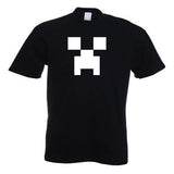 Minecraft Creeper Child Youth T-Shirt Black