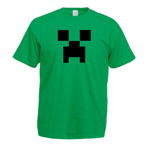 Minecraft Creeper Child Youth T-Shirt Green