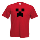 Minecraft Creeper Child Youth T-Shirt Red