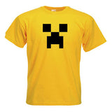 Minecraft Creeper Child Youth T-Shirt Yellow