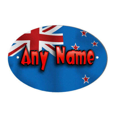 New Zealand Flag Design Personalised Door Name Plaque