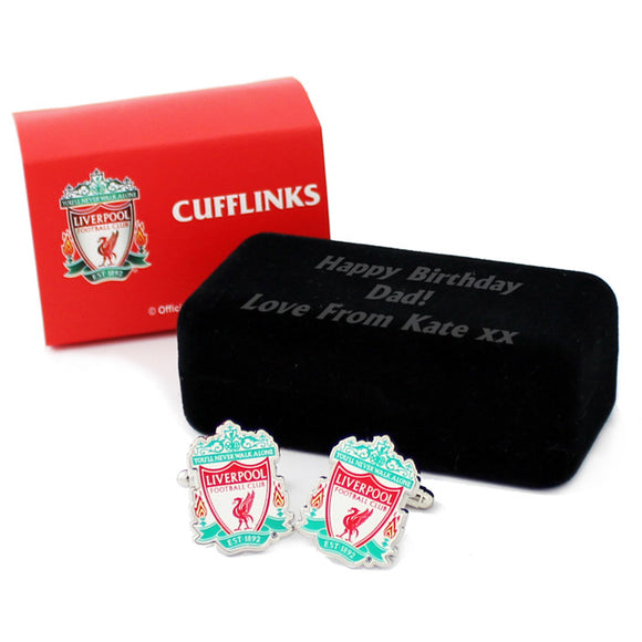 Liverpool FC Cufflinks with Personalised Box