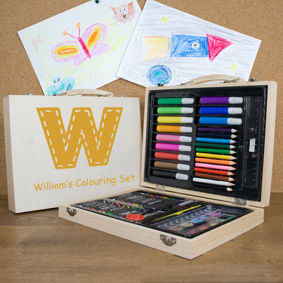 Children's Personalised Colouring Box Set