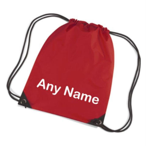 Personalised Drawstring Swim Bag Plain Text Style
