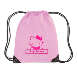 Personalised Hello Kitty motif gym bag