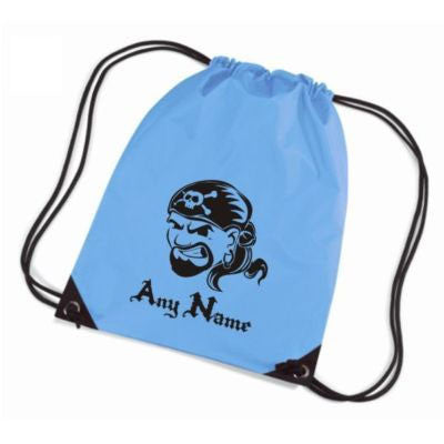 Personalised Pirate Face Motif Gym Bag