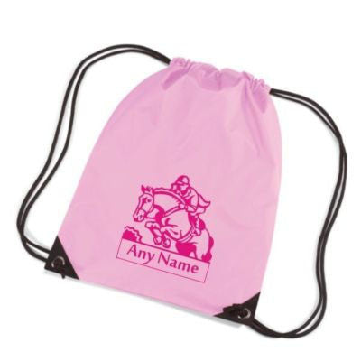 Personalised Show Jumping Motif Gym bag