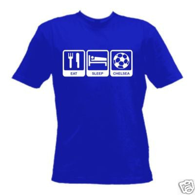 Personalised Eat Sleep Chelsea T-Shirt