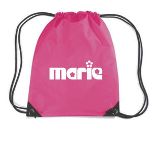 Personalised Girls Fun Print Drawstring Gym Dance Bag