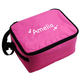 Pink Personalised Lunch Cool Bag With Hearts