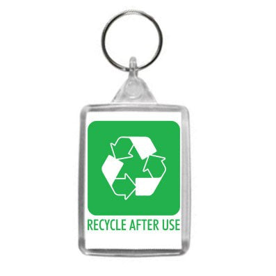 Recycle After Use Design Key Ring