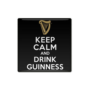 Square Keep Calm and Drink Guinness Fun Pin Backed Button Badge