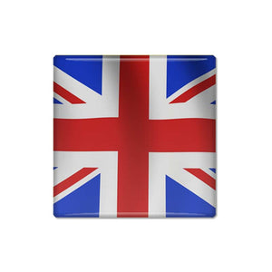 Square Union Jack Pin Backed Button Badge