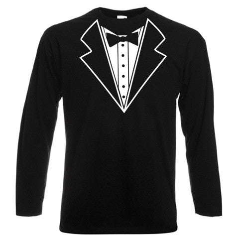 Child's Tuxedo Design Long Sleeve T-Shirt