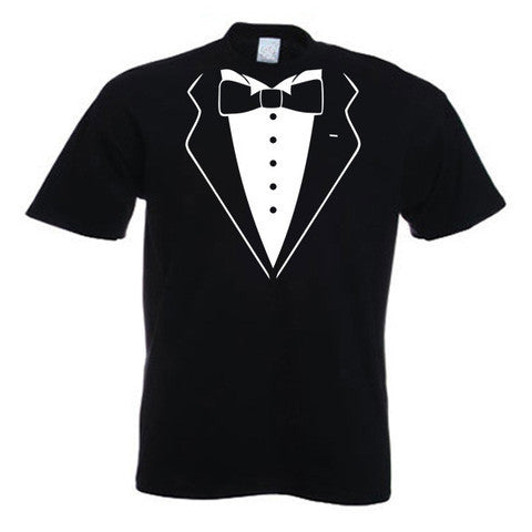 Tuxedo Design Short Sleeved T-Shirt