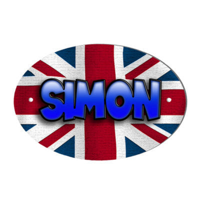 Union Jack Design Personalised Door name Plaque