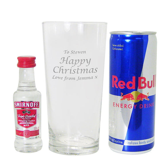Vodka and Red Bull Christmas Gift Set