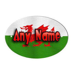 Welsh Flag Design Personalised Door Name Plaque