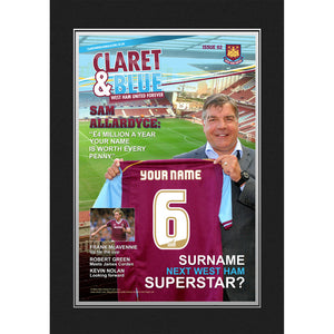 West Ham United Personalised Magazine Cover Folder