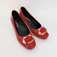 Load image into Gallery viewer, Women's Red Patent Leather Low Heel Shoes