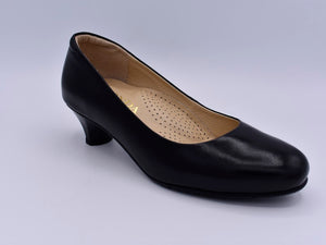 Round toed black shoes
