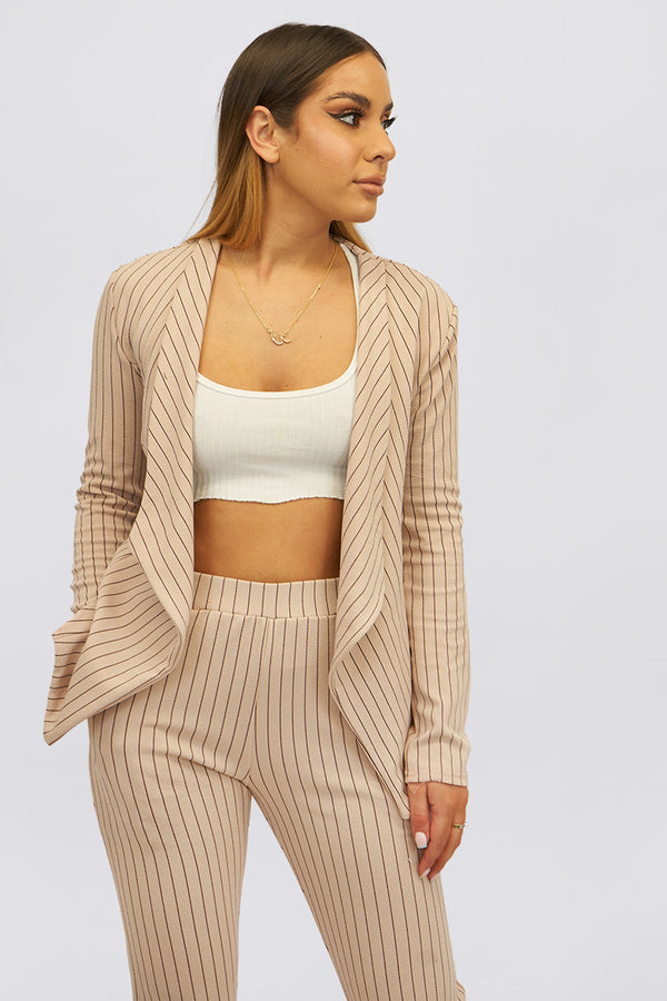Pin Stripe Tailored Blazer