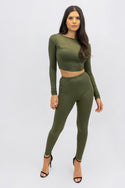 Crop Top and Legging Set