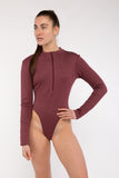 Longsleeve Zip-up Bodysuit