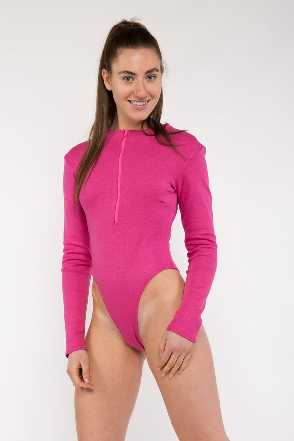 Long Sleeve Zip Up Bodysuit
