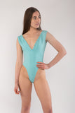 V-Neck Button Front Bodysuit