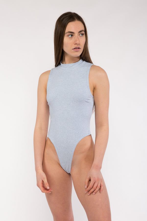 High Neck Sleeveless Bodysuit
