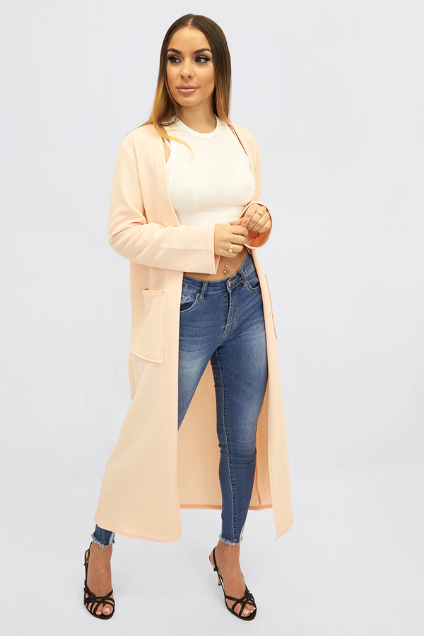 Collarless longline Pocket duster