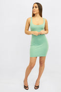 Midi Scoop Neck Dress
