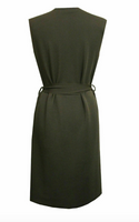 Knee length Sleeveless Belted Duster