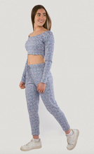 Load image into Gallery viewer, Tie dye cropped hooded loungewear set