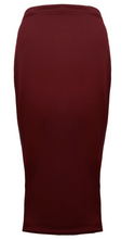 crepe Maxi Body-Con Skirt
