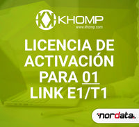Activation license for 01 link E1/T1. - Nordata